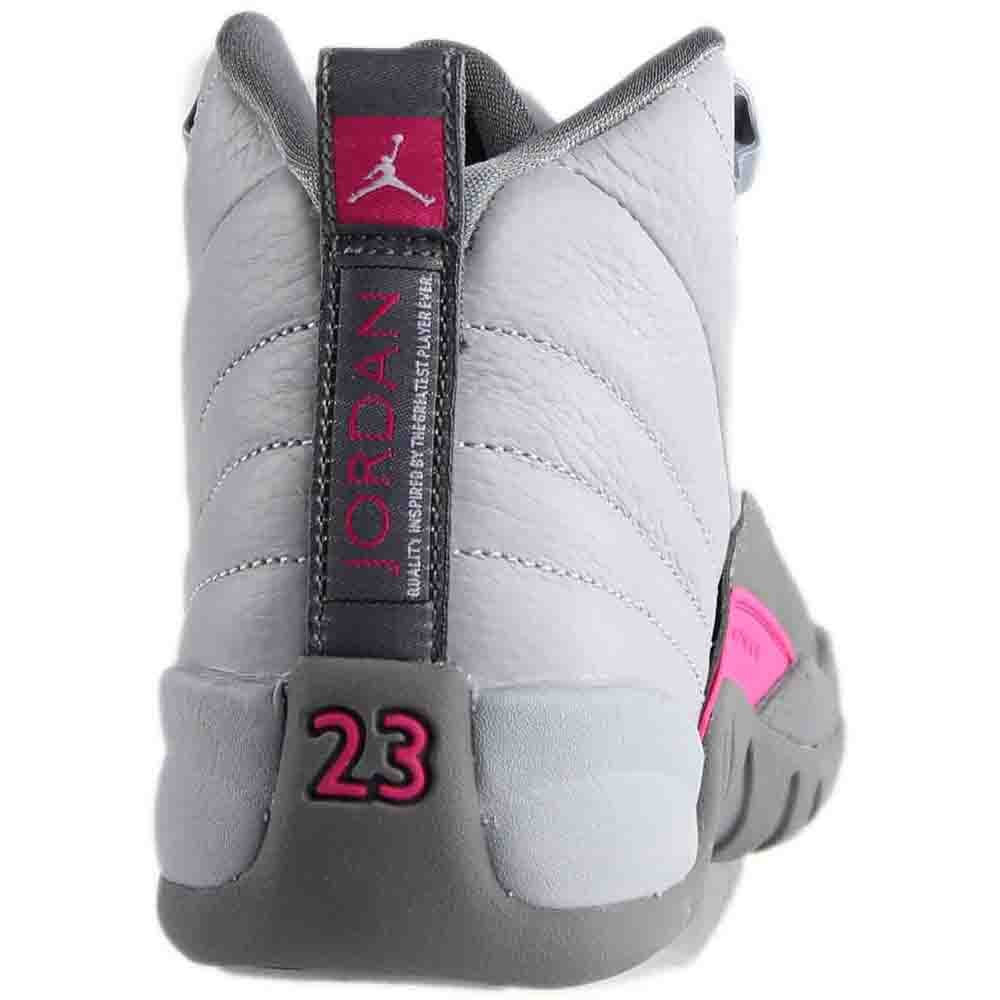 04e6f3e1e1f Amazon.com | NIKE Air Jordan 12 Retro GG Basketball Sneaker White/Gray |  Basketball