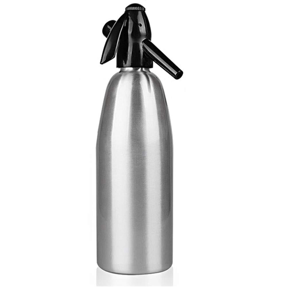 Soda Siphon - Ultimate Soda Maker - Aluminum - 1 Liter -BRTL0001-SS (Silver)