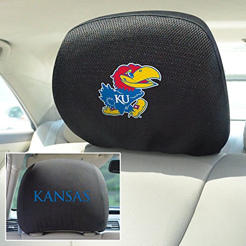- FANMATS NCAA University of Kansas Jayhawks Polyester Head Rest Cover