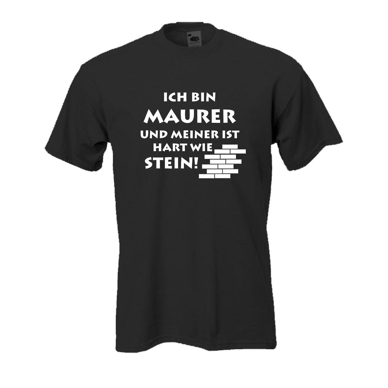 Maurer bei der arbeit bier  Ich bin Maurer ..., witzig bedrucktes T-Shirt für Arbeit und Beruf ...