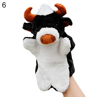 fublousRR5 Hand Puppet Cartoon Lovely Mini Plush Cow Ox Bull Animal Hand Puppet Kids Storytelling Toy Hand Puppet 6#: Home & Kitchen