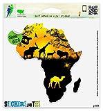 """Africa Wildlife Vinyl Car Bumper Window Sticker 5"""" x 5"""""""