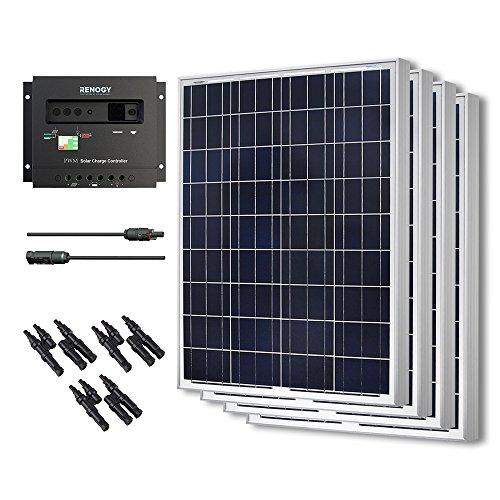 Renogy KIT-BUNDLE400P Solar Panel Kit, 400 Watts