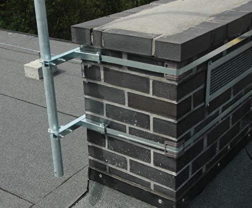 Antena plana Soporte de chimenea chimenea Soporte para mástil ...