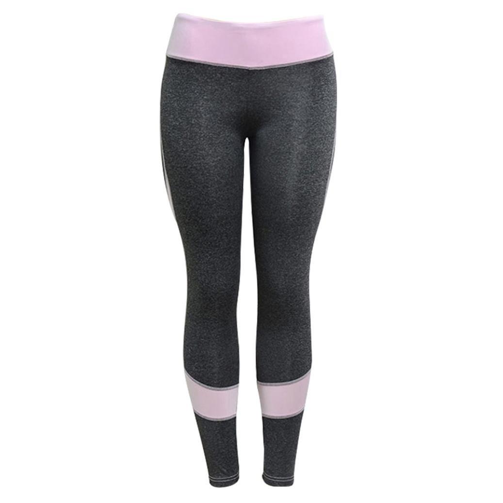 6ab876b0d301c Amazon.com: Quartly Yoga Pants, Womens Skinny High Waist Workout Fitness  Sports Gym Running Yoga Leggings Athletic Pants: Clothing