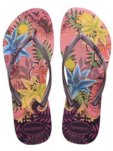 Descubierta Tropical Havaianas Slim De Sandalias Punta Rose Para Mujer 7aOqXp