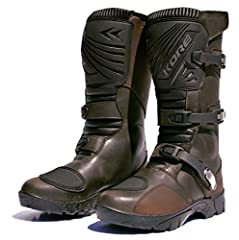 Bonded non-slip lug type sole. Replaceable micro adjustable cam lock buckle system. Split grain leather is used for the upper's construction. Multi pleated arch, upper calf and Achilles areas for maximum comfort. Double stitched in all high s...