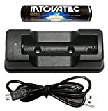 Intova 18650 Li-ion Battery Charger and Battery for Action Video Light