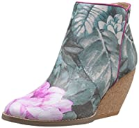 Very Volatile Women's Teaparty Boot, Blue/Multi, 6 B US