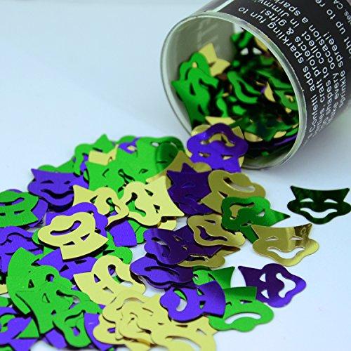 Confetti Mask: Comedy & Tragedy Mask in a Mardi Gras Mix - Retail Pack #9265 - Free (Mask Confetti)