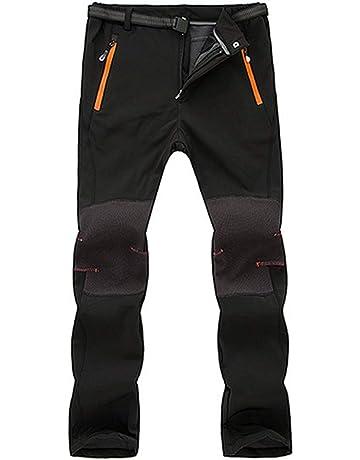 Gusspower Pantalones de Trekking Softshell Pantalones de esquí Impermeables A Prueba de Viento Resistente Pantalones de