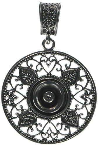 Cousin Snap In Style Metal Base 1/Pkg-Round Filigree