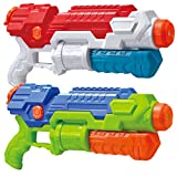 JOYIN 2 Pack Super Water Blaster High Capacity Water Soaker Blaster Squirt Toy Swimming Pool Beach Sand Water Fighting Toy