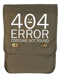 Tenacitee 404 Costume Not Found Khaki Green Canvas Field Bag