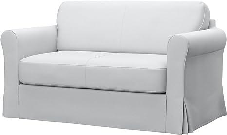 Amazon Com Soferia Replacement Cover For Ikea Hagalund Sofa Bed Fabric Elegance White Home Kitchen
