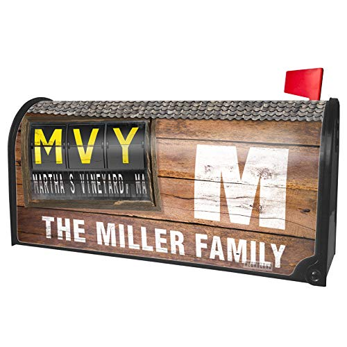 NEONBLOND Custom Mailbox Cover MVY Airport Code for Martha's Vineyard, MA -