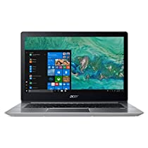 Acer Notebook Swift 3 SF314-52-31KB, Processore Intel Core i3-7130U, RAM 4 GB DDR4, 256GB Intel PCIe SSD, Windows 10 Home, Display 14 FHD IPS LCD, Silver