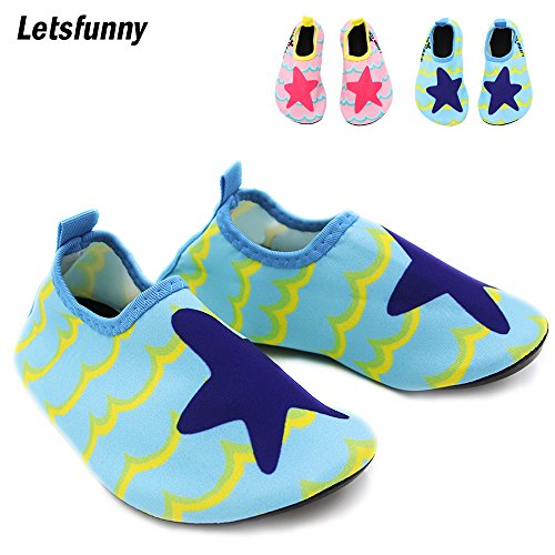 Letsfunny Baby Water Shoes, Unisex Infant Swim Shoes, Quick Dry Kids Beach Shoes
