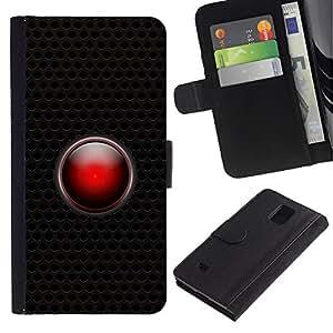 LASTONE PHONE CASE / Lujo Billetera de Cuero Caso del tirón Titular de la tarjeta Flip Carcasa Funda para Samsung Galaxy Note 4 SM-N910 / Hal Ai System