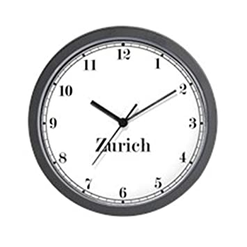 Cafepress zurich classic newsroom wall clock unique decorative 10 wall clock