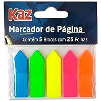 Marcador de Página Neon 5 Cores KZ4400 Kaz