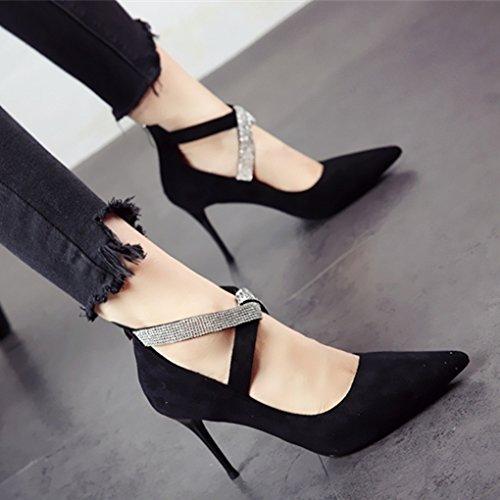 FLYRCX Im europäischen Stil Frühjahr und Herbst stilvolle Persönlichkeit High Heels High Heel heels Small Single single party Schuhe Schuhe Schuhe