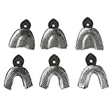 AZDENT® Stainless Steel Dental Impression Teeth Tray Autoclavable(6pcs/kit)