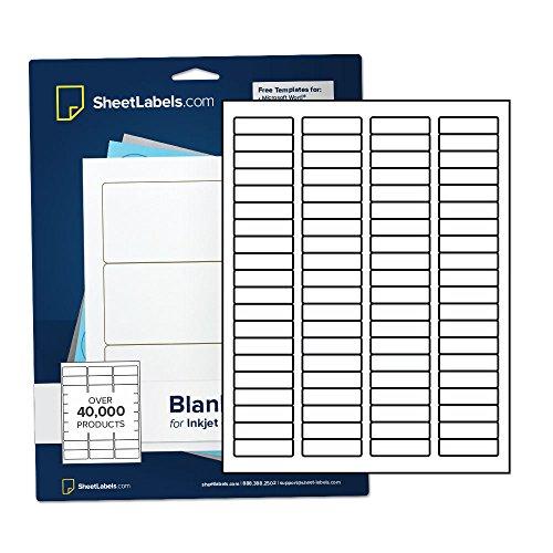 (Waterproof Return Address Labels for Laser Printer, 1-3/4