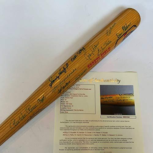 (Sandy Koufax Autographed Baseball Bat - Legends Ebbets Field 24 Sigs COA - JSA Certified - Autographed MLB Bats)