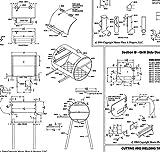 """24"""" x 20"""" BBQ Pit & Grill Plans Blueprints"""