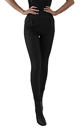 Targogo Pantalon Cuero Mujer Invierno Cintura Alta Skinny ...