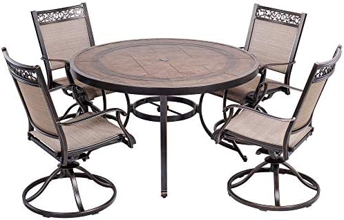 dali 5 Piece Outdoor Dining Set Patio Furniture