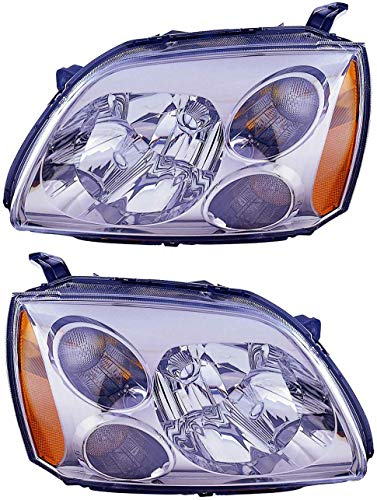 For 2004 2005 2006 2007 2008 2009 Mitsubishi Galant De/Es/Se Headlights Headlamps Driver Left and Passenger Right Side Pair Set Replacement MI2502127 MI2503127