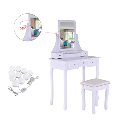 Admirable Amazon Com Jawm Dressing Table With Mirror Light Wood Pabps2019 Chair Design Images Pabps2019Com