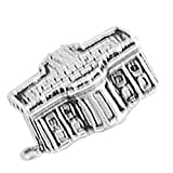 925 Sterling Silver United States American Presidental White House Charm Pendant