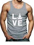 Tstars Love Yoga Gift for Yoga Lovers Buddha Zen Men's Tank Top Singlet X-Large Gray