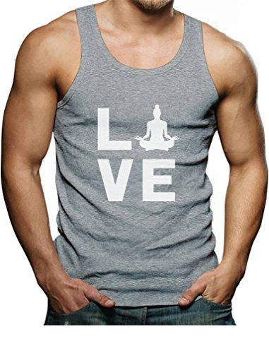 - Tstars - Love Yoga Gift Yoga Lovers Buddha Zen Men's Tank Top Singlet X-Large Gray