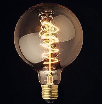 XL Spiral Globe Vintage Light Bulb Filament Edison Style E26 Screw 40W