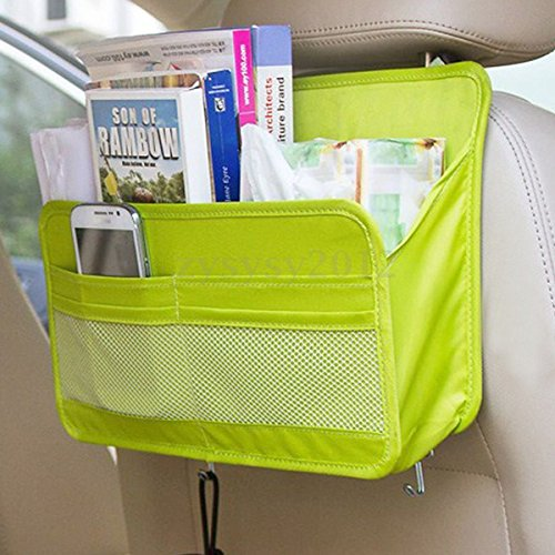 Yosoo Car Seat Back Hanger Pocket Auto Travel Multifunction Storage Tidy Bag Organizer - Great Car Organizer for All Drivers' Needs Rigid Back Plate Gives Seat Organizer