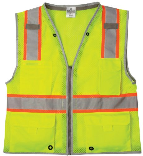 ML Kishigo 1510 Ultra-Cool Polyester Brilliant Series Heavy Duty Vest, 2X-Large, Lime