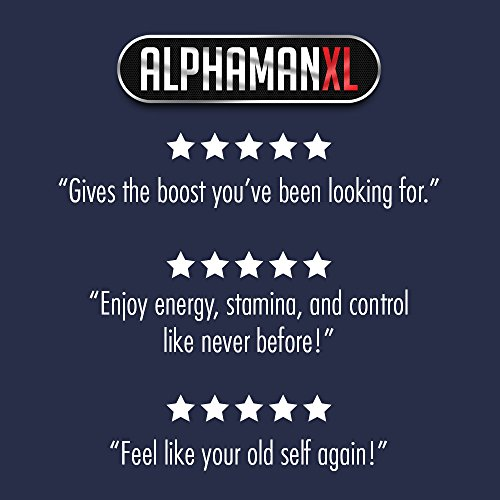 AlphaMAN XL Male Pills | 2+ Inches in 60 days Enlargement Booster Increases Energy, Mood & Endurance | Best Performance Supplement for Men 1 Month Supply, 60 Capsules