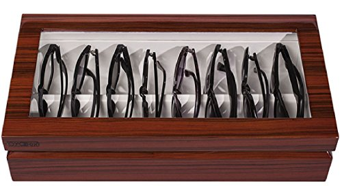 OYOBox Luxury Eyeglass Eyewear Unisex Maxi Zebra Brown Color Lacquer Finish Wooden Organizer Box by OYOBox