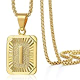 Trendsmax Initial Letter Pendant Necklace for Mens