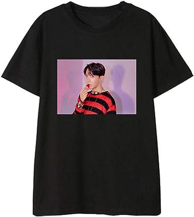 BTS Camiseta Estilo Neutral Moda Mujer Camiseta Algodón Camisetas ...