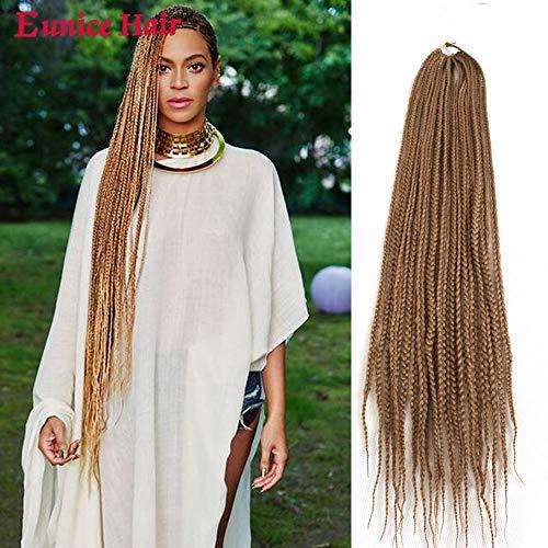 Eunice 6 Packs 30 Inch Long Box Braid Style Crochet Hair 22 Roots/Pack Synthetic Hair Crochet Braid 3S Small Box Braids (#27)