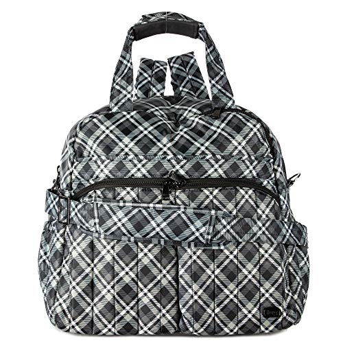 (Lug Boxer Duffel Bag, Plaid Grey, One Size)