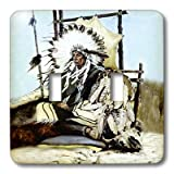 lsp_859_2 Southwest - Indian Chief - Light Switch Covers - double toggle switch