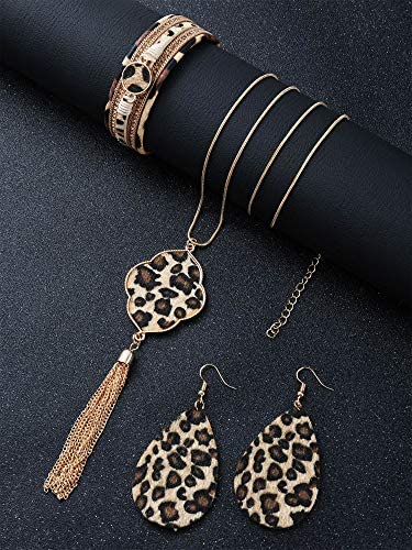 Necklace 3-Piece Set Magnetic Wrap Bracelet and Earrings