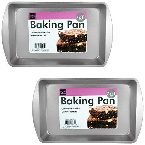 Biscuit Brownie Pan Two Piece Set 11 Inch x 7 - Pan Biscuit Brownie