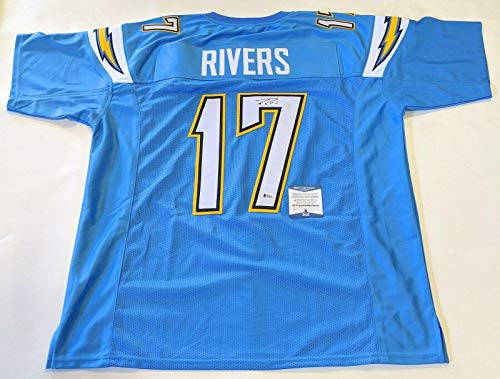 Autographed Philip Rivers Jersey - PHILLIP BECKETT WITNESSED COA #M93354 - Beckett Authentication - Autographed NFL ()